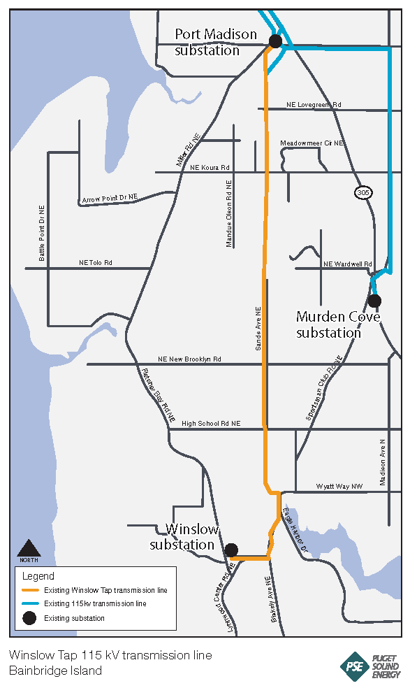 Map of Winslow tap location