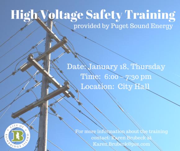 High Voltage Safety Training : Pse bainbridge island high voltage safety training