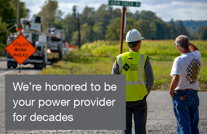 We're honored to be your power provider for decades