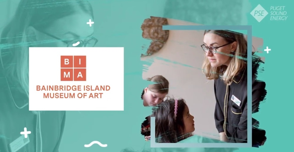An image of the Bainbridge Island Museum of Art logo from the PSE sponsorship video.