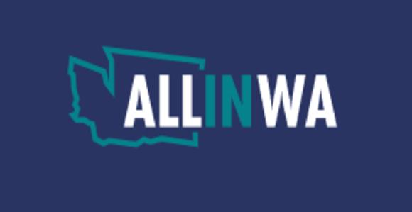 All In Washington program logo
