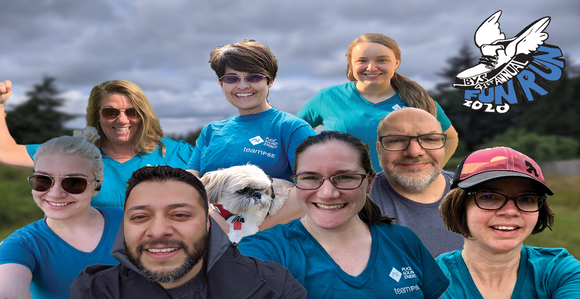 PSE team that participated in the virtual Fun Run hosted by Bainbridge Youth Services.