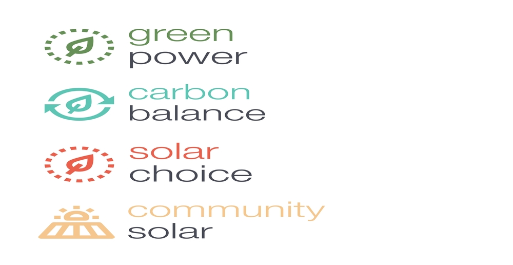 PSE green power icons