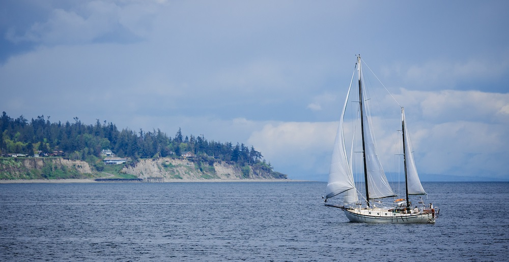 A sailboat near Bainbridge Island