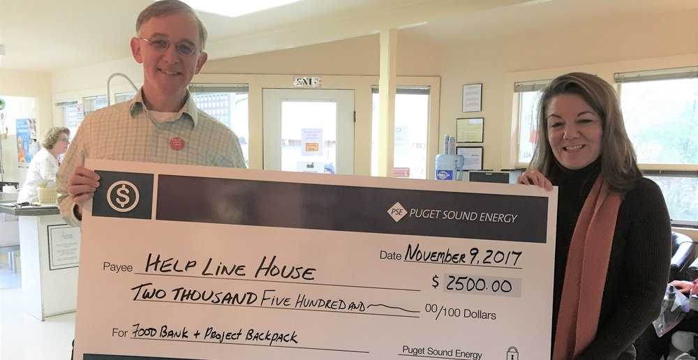 Helpline House receives donation check