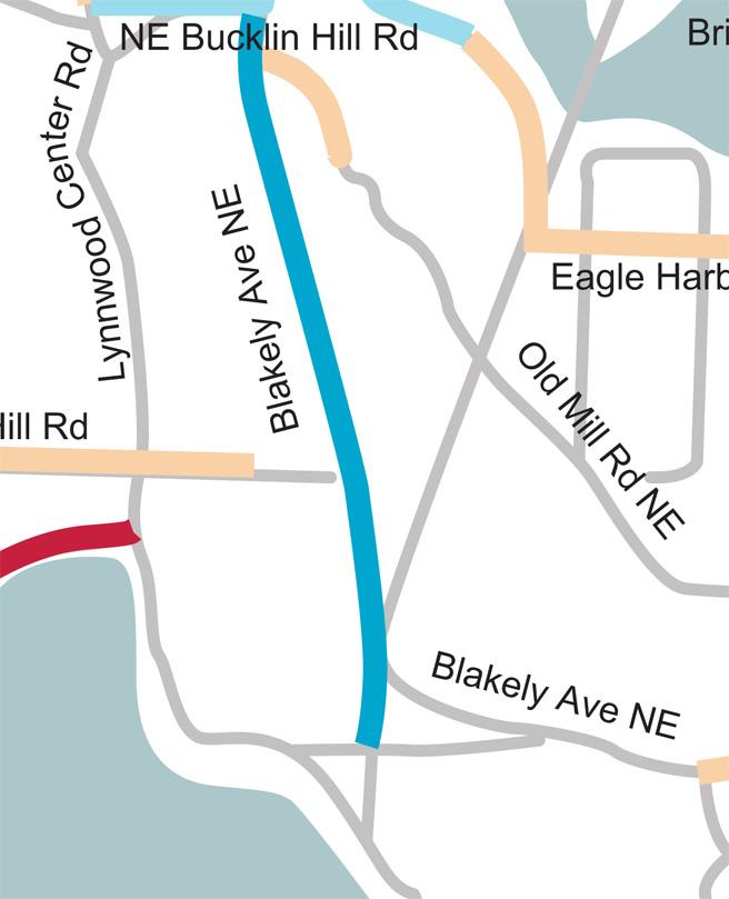 Blakely Ave NE underground distribution map