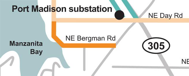 NE Bergman Road tree wire Map