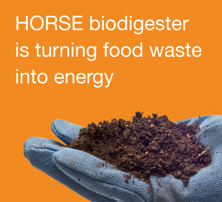 HORSE digester is turning food waste into energy